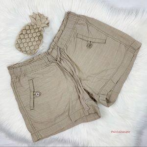 Ann Taylor Loft Khaki Drawstring Shorts!!